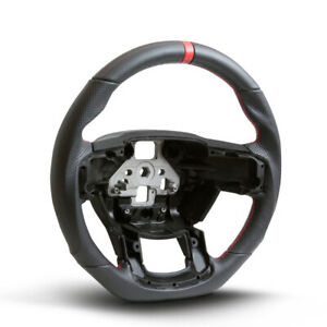 Performance Steering Wheel For 15 16 17 Ford F150 perforated Leather red Stitch