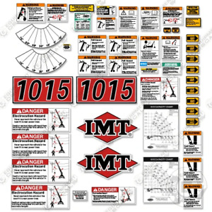 Imt 1015 Decal Kit Crane Truck Replacement Stickers Warning And Safety