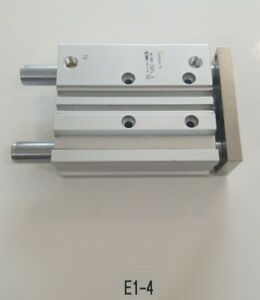 preowned Smc Mgpm25n 75 Compact Guided Pneumatic Cylinder