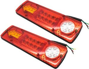 23 Led Red Amber White Trailer Tail Lights Bar 12v Turn Signal Running Trailer