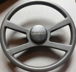 1988 1989 1990 Chevy Silverado Factory Black 16 Steering Wheel Nice Oem Part