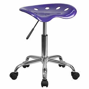 Flash Furniture Vibrant Violet Tractor Seat And Chrome Stool Lf 214a violet gg