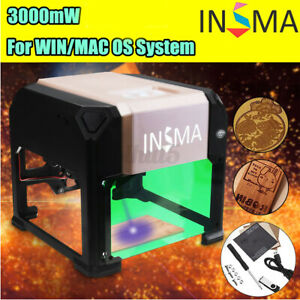 Insma 3000mw Usb Laser Engraving Cutting Machine Diy Logo Printer Cnc Engraver