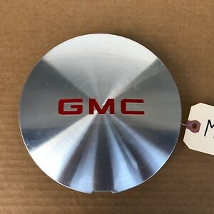 95 01 Gmc Jimmy Sonoma Oe Machined Center Cap Red Logo 15724975