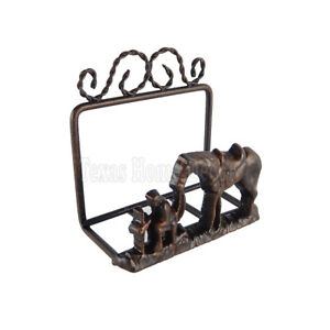 Metal Business Card Holder Praying Kneeling Cowboy Horse Rustic Western Copper
