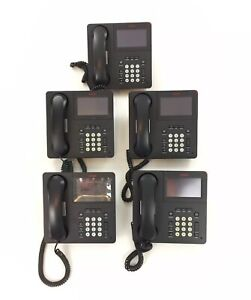 Lot Of 5 Avaya 9641g Ip Business Desk Telephone Phone With Handset And Stand