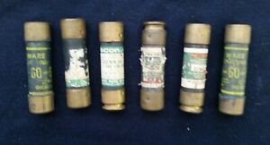 Mixed Lot 50 Amp 4 And 60 Amp 2 600v Time Delay Fuse Qty 6