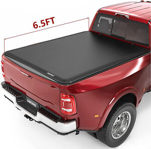Oedro 6 5ft Soft Roll Up Truck Bed Tonneau Cover For 2019 2021 Silverado Sierra