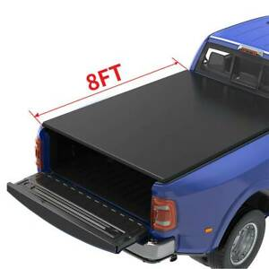 Oedro 8ft Soft Roll Up Truck Bed Tonneau Cover For 2002 2020 Ram 1500 2500 3500