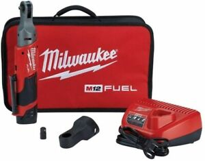 Milwaukee Electric Tool 2556 21 M12 1 4 Ratchet High Torque Kit Brand New
