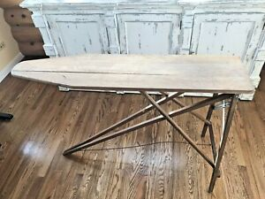 Antique Primitive Folding Wood Metal Ironing Board