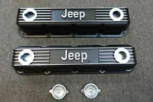 Nos Jeep Mopar Performance Black Aluminum Magnum Small Block Valve Covers 360