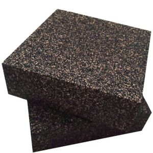 Anti Vibration Isolation Pads composed Of Rubber cork thick heavy 6x6x2 In I9o2