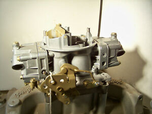Holley 6213 800 Double Pumper Spread Bore 4 Barrel Carb Rebuilt And Plated