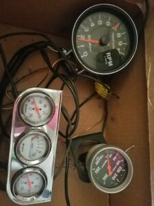 Autometer Sport Comp Tachometer Transmission And Sunpro Gauges Lot