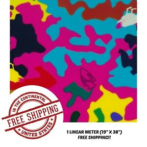 Hydrographic Film Water Transfer Hydro Dipping Dip Film Kiddie Camo 19 X 38