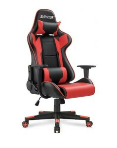 Big tall Gaming Chair Computer Best Racer Executive Office High Back Leather Red