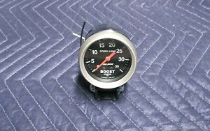 Autometer 3404 Sport Comp Boost Gauge 2 5 8 In Mechanical Chrome Cup