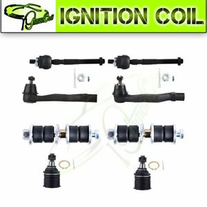 Ser Of 8pcs Steering Front Ball Joint Tie Rod Parts For 1994 1997 Acura Integra