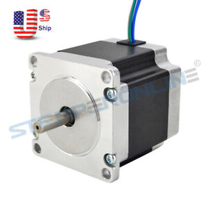 Nema 23 Stepper Motor 1 26nm 178 04oz in 2 8a Cnc Mill Robot Lathe 3d Printer