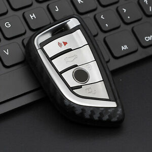 Silicone Carbon Fiber Smart Key Case Protection Cover For Bmw 2 3 5 6 7 X1 X2 X3