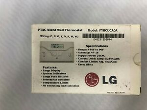 Lg Pyrcuca0a Ptac Wired Wall Mount Thermostat