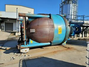Blaw knox 4600 Gallon 316l Stainless Steel Clad Jacketed Reactor Removed
