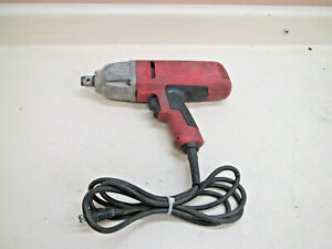Milwaukee 9075 20 Cord Electric Impact Wrench 3 4 Dr 380 Ft Lbs Torque Used