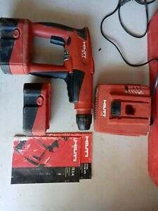 Hilti Te 2 a Hammer Drill 24 Volt Cordless Kit Charger 2 Batteries manuals case