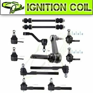 Pair 12 Front Ball Joint Tie Rod End Parts For 2000 2001 Dodge Ram 1500