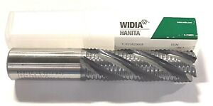 Widia Hanita Cobalt Roughing End Mill 1 X 1 X 3 X 5 1 2 Ticn Coated 5 Flute