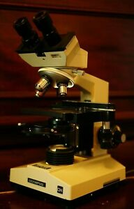 Olympus Ch Microscope 4x 10x 40x 100x With Phase Contrast Condenser