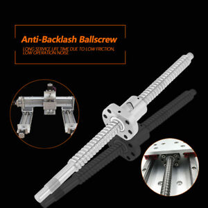 16000rpm 300mm Rolled Ballscrew Ballnut Anti backlash Without Side End Supports