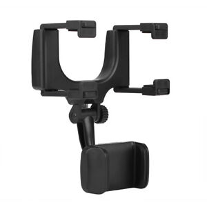 Auto Car Hang On Rear View Mirror Mount 5 9cm Phone Gps Holder 360 Stand Brace