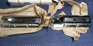 Nos Ford Motorsport Svo Chrome Ford 351c Cleveland Valve Covers