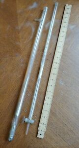 Lot 2 Vtg Chemistry Science Lab 24 Inch Xl Straight Graduated Burette Pipettes