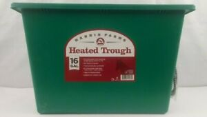 Harris Farms 16 Gallon Heated Trough Prevents Water From Freezing Green