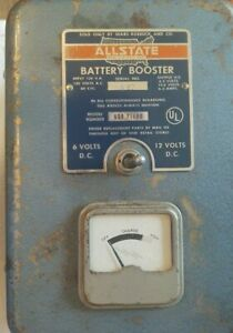 Vintage Battery Charger Sears Allstate 6 12 Volt Battery Booster