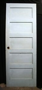 3 Avail 27 X76 Vintage Antique Old Solid Wood Wooden Interior Closet Door Panel