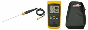 Fluke 51 2 Lab Kit 51 2 Single Input Thermometer With 80pk 22 Immersion Temperat