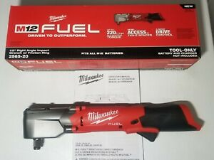 Milwaukee M12 Fuel 1 2 Right Angie Impact Wrench 220 Ft Lbs Bare Tool 2565 20