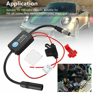 Car Fm Am Radio Stereo Signal Antenna Amplifier Aerial Signal Booster Inline Us