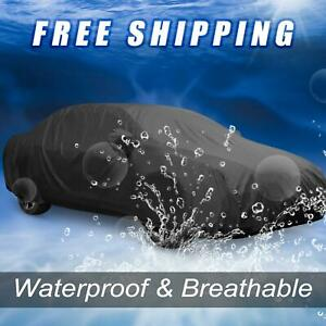 Stormproof Waterproof Breathable Black Car Cover Durable Outdoor Indoor