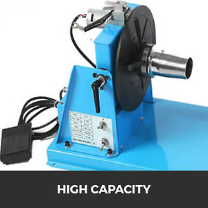 10kg 15w Rotary Welding Positioner Turntable Table 2 5 3 Jaw Lathe Chuck 110v