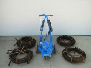 Electric Eel Model C Sewer Snake Rodder Drain Cleaning Machine W Cable Used