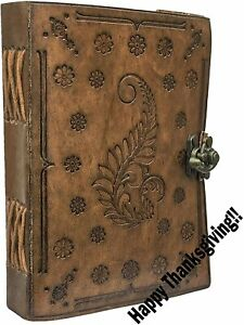 Leather Travel Journal Handmade Vintage Writing Bound Notebook For Men