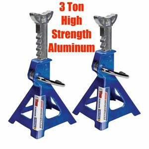 3 Ton Pair 2 Jack Stands Aluminum Racing Heavy Duty Car Truck Auto Automotive