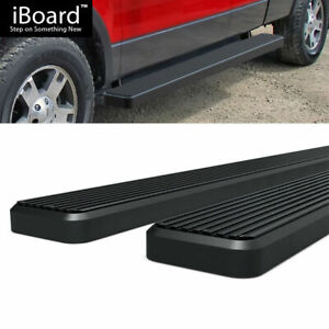 6 Black Eboard Running Boards Fit Ford F150 Super Cab 04 08