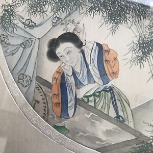 Pair Antique Qing Chinese Paintings