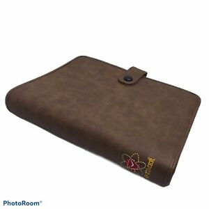 1998 Day Timer Vintage 7 Ring Binder Brown Faux Leather 9 X 7